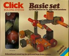 vintage wood toy click building system rotating constructional   NEW RARE