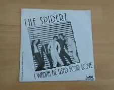 "The Spiderz I Wanna Be Used For Love 1979 Dutch 7"" Pic Sleeve New Wave Powerpop"