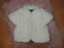 The Childrens Place Ivory Faux Fur Pattern Cut Small 5/6 Girls Jacket Coat 2916