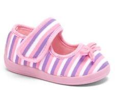 Chatties - Light Pink Stripe Mary Jane Slipper - Toddler Girls Size 11/12