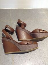 JIL SANDER  wedge shoes peep toe UK 4  eur 37 made in Italy