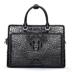 Handmade Genuine Crocodile Leather Briefcase Laptop Bag Business Bag (2 Colors )
