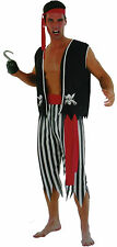 Adult Mens Pirate Party Fancy Dress polyester Outfit Cosplay One Size Outifit