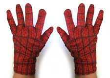 The Amazing Spider Man 2 Spiderman Gloves Comic Hero Adult Costume Accessory