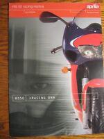 1999 2000 Aprilia Motorcycle RS50 Racing Brochure Xlnt Original