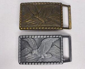 2 Vintage High Mesa Eagle Belt Buckle Lot Of 2 70s