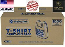 Restaurant T Shirt Carry Out Bags 1000 Ct Free And Fast Shipping
