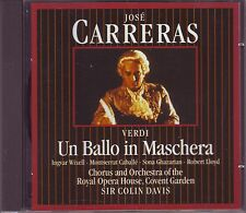 CARRERAS - SIR COLIN DAVIS - Verdi Un Ballo in Maschera Highlights -  Philips CD