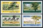 Kenya 360-363,364,MNH.Michel 352-355,Bl.27. Trees 1986,Glade.