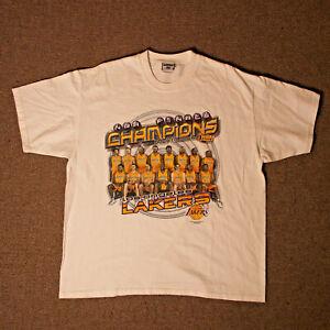 Vintage LEE LOS ANGELES LAKERS 2001 NBA FINALS Back-to-Back Champions KOBE/SHAQ