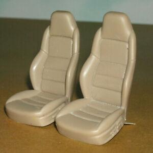 1/18 Scale Corvette C6 Front Bucket Seats (Two) Hot Wheels Car Model Parts