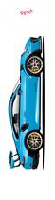 Car Art skateboard Deck 7-ply canadian hard rock maple Miami Blue