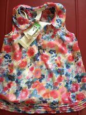 Girls Children Kids Color Floral 2 sets Sleeveless Vest Singlet Tanks Tops 4Year
