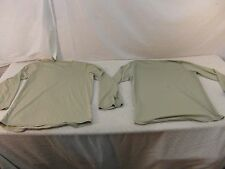 (2) Military GEN III Level 1 Light Tan Silk Thermal Tops Tiny Holes Stains 33391