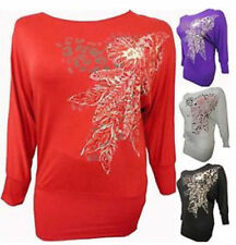 Beaded Long Sleeve Floral Tops & Shirts for Women