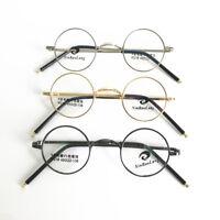 Vintage Small Round Eyeglass Frames Metal Full Rim Optical unisex Glasses