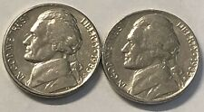 1985 P and D 2 Coin Jefferson Nickel Set In Good Condition