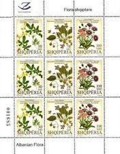 Albania stamps 2011. ALBANIAN FLORA. FLOWERS. Sheet MNH