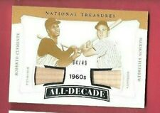 ROBERTO CLEMENTE Harmon Killebrew GAME USED BAT CARD #49 TREASURES PIRATES TWINS