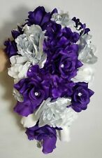Purple Silver White Rose