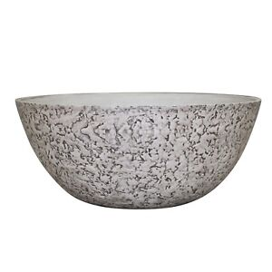 Northcote Pottery ROCK WHITE LUNAR BOWL 350x150mm Textured Design *Aust Brand