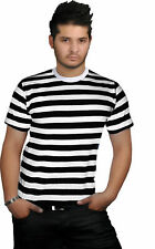 MENS CHILDRENS ZOMBIE CONVICT PRISONER COSTUME HALLOWEEN FANCY DRESS OUTFIT