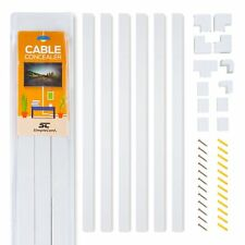Cable Concealer On-Wall Cord Cover Raceway Kit - Cable Management System