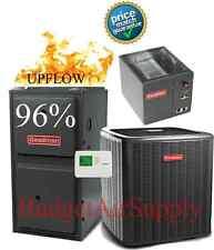 1.5 Ton Goodman 14 seer 96% 40K BTU Gas Furnace UPFLOW System GMSS960402B
