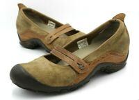 Merrell Plaza Bandeau Mary Jane Loafer, Women Size 9.5 Tan Qform Ortholite Shoes