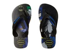 HAVAIANAS Boys Kids Max Heroes Sandal Flip Flops Batman ( 10 ) Black / Blue Star
