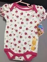 NWT Girls Sandals Cherokee Jory White Patent Pink Strawberry 5 6 7 9