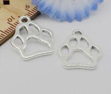 20pcs Tibetan Silver paw print Pendant Charms Fit Bracelet Jewellery 19x17mm