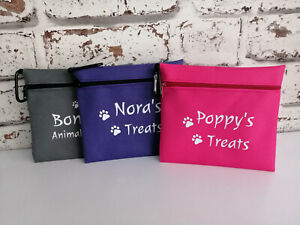 dog treat bag personalised with any name & text dogs treining bag treats gift