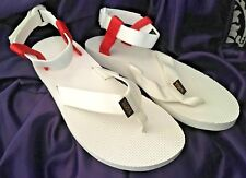 BRAND NEW Teva Original White Red Thongs Ankle Sandals WOMENS Size 11