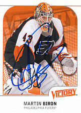 MARTIN BIRON FLYERS AUTOGRAPH AUTO 09/10 UPPER DECK VICTORY #142 *25814