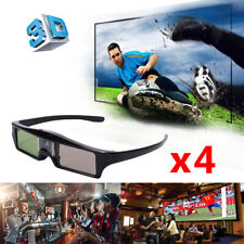 4X Aktive Shutter 3D Brille für BenQ HT3550 Optoma Acer Dell 3D DLP-LINK Beamer