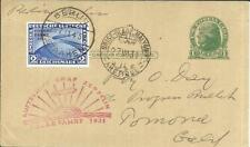 US postal card Sc#UX27 GRAF ZEPPELIN 1931 POLAR FLIGHT-BERLIN 25/7/31