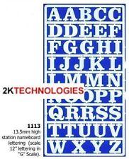 Slaters 1113 - 13.5mm High 'G' Scale (Garden Railway) Letters White Plastic 1stP
