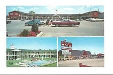 ANGOLA IN Redwood Center Motel Vtg 1970's Cars Postcard