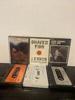 Bundle Of 3 John Lennon Yoko Ono Cassette Tapes Milk Honey Shaved Fish Fantasy