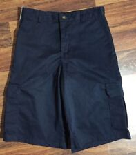 Dockers Boys Navy Blue Cargo Short Wrinkle Resistant Approved Schoolwear Size 12