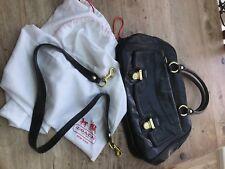 Stunning Black Leather Coach Bag VGC