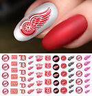 Detroit Red Wings Hockey Nail Art Decals - Salon Quality
