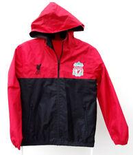 Liverpool FC LFC Red Black hooded Rain Jacket 12 - 13 years