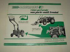 Prospectus Agricole Chargeur LECOMTE Tracteur Tractor Traktor Prospekt Brochure