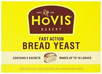 42g 6g x 7 Hovis Yeast  Sachets Hand Machine Baking Fast Action Quick Bread Bake