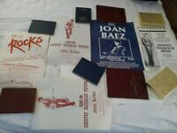 Lot of 5 Vintage Concert Posters: Portland, Eugene, Oregon: Steppenwolf, Baez+++