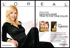 Heather Locklear 2-pg clipping 2004 ad for L'Oreal