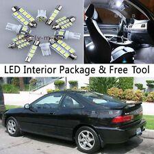 8PCS Bulb White Car LED Interior Lights Package kit Fit 94-2001 Acura Integra J1