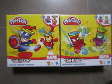 PLAY-DOH MARVEL CAN-HEADS CAPITAN AMERICA Y SPIDERMAN